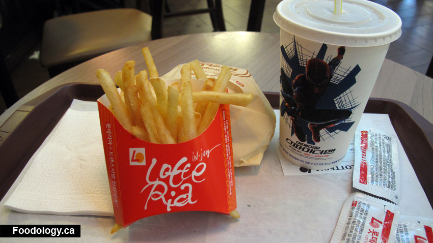 Lotteria: Hot and Spicy Chicken Burger in South Korea