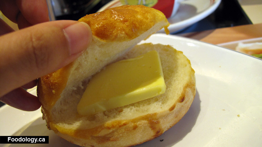 The Slice Of Butter Was Quite Large And Too Much For This Bun I Took Half Out It Still Enough To Cover A Lot Surface