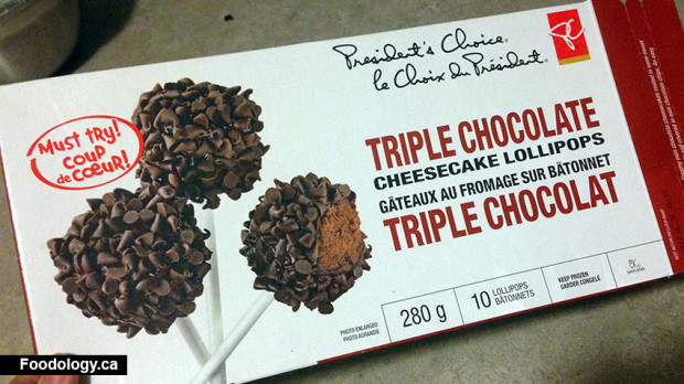 President's Choice Triple Chocolate Cheesecake Lollipops