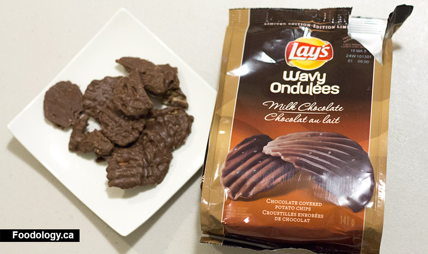 Lay S Canada Milk Chocolate Covered Wavy Chips Foodology