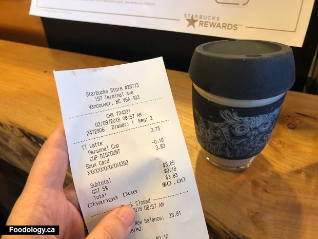da104530b56 Starbucks offers a 10-cent discount in the company operated stores to  encourage customers to use their own reusable mugs or tumblers for their  beverages.
