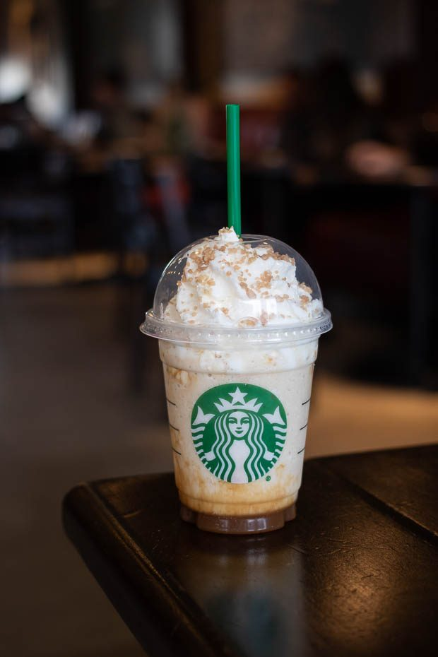 Starbucks Caramel Ribbon Crunch Frappuccino Review Foodology